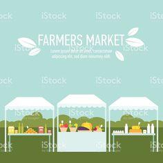 ファーマーズマーケットの背景 1 つ ロイヤリティフリーのイラスト素材