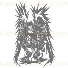 DEATH NOTE ANIME ART - Ryuk - Wall Decal - Click Image to Close
