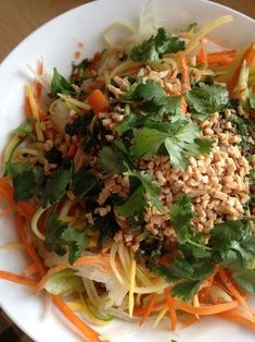 Here is another ver­sion of a Green Papaya Salad — this time with sliv­ers of mango. There are won­der­ful tex­tures in this easy Viet­namese lunch salad. Green Papaya and Mango Salad Author: Aleks Recipe type: Salad Cui­sine: Viet­namese Ingre­di­ents Viet­namese Dressing ½ tea­spoon garlic-​chili paste 1 table­spoon light brown sugar ¼ cup fresh lime juice ... [Read more...]