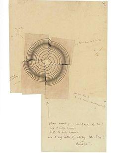 b22-design:  Bridget Riley - Study for Disfigured Circle - 1963