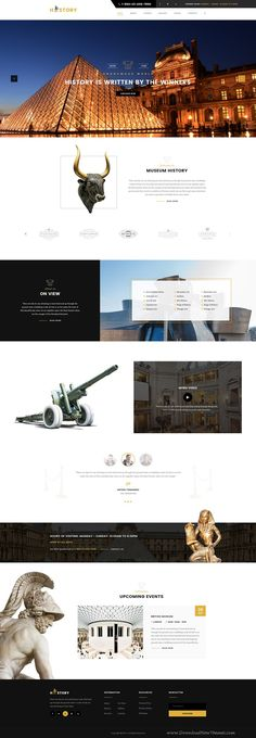 History is wonderful premium PSD #Template for #Museum #website. Download Now!