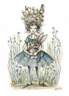 The characters from Alice in Wonderland, the classic novel by Lewis Carroll, retain their status as one of the most popular subjects for artists to illustrate, almost 150 years later. Lewis Carroll, Marie Antoinette, Cheshire Cat Art, Decoupage, Rabbit Art, Rabbit Hole, Nerd, Flamingo Art, Pintura Country