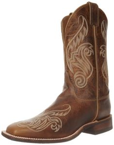 5424226ba44b Justin Boots Womens USA Bent Rail Collection 11 Boot Wide Square Double  Stitch Toe Performance Rubber