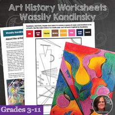 Wassily Kandinsky Art History Workbook and Activities - Abstract Art Art Lessons For Kids, Art For Kids, Picasso, Oil Pastel Techniques, Art Analysis, Famous Art Pieces, 6th Grade Art, History Activities, Camping Photography