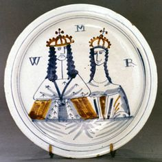Delft William and Mary Plate.
