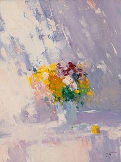 ON SUN painting, oil, 40x30 cm, 2014 Peter Bezrukov