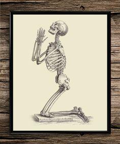 praying skeleton vintage prints anatomy prints home office decor printable wall art anatomy home office