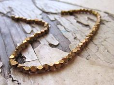 modern brass beaded necklace by whoop