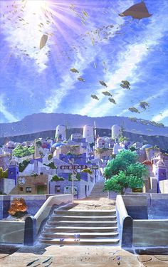 Can we all just take a moment and realize that this would be just the best possible world to live in? I want to live in a lot of fictional worlds but this one is especially high up on my list. It's just so freaking beautiful.