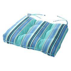 Cushion Source 24.5 x 20 in. Striped Sunbrella Chair Cushion Dolce Oasis - 5CB8U-56001