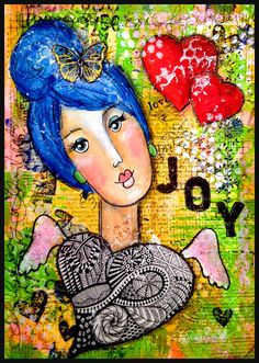 Well, since Valintines Day is this week, I thought I would make a page in my journal with hearts on it. I got a Gelli Arts plate this week and spent all day palying with it yesterday. I took Julie Fei-Fan Balzer's onlineclass to learn how to use it.
