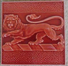 Super Pilkington's red Lion tile c1907