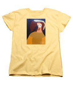 Patrick Francis Women's Banana Designer T-Shirt featuring the painting Portrait Of Marianna Of Austria 2015 - After Diego Velazquez by Patrick Francis