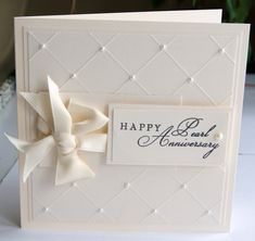 30th wedding anniversary decorations   Causeway Crafts: Pearl Anniversary Card