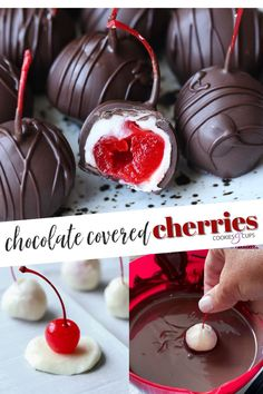 Chocolate Covered Treats, Chocolate Covered Cherries, Chocolate Cherry, Melting Chocolate, Valentines Baking, Valentine Desserts, Valentine Candy Recipe, Valentines Recipes, Valentine Chocolate