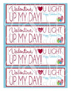 You Light Up My Day Valentine with Glow Stick by YourDigitalAffair
