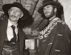 """Lee Van Cleef and Clint Eastwood on the set of """"For a Few Dollars More"""" 🎥 🎬 clinteastwood leevancleef groovy retro rocknroll music love vintage psychedelic peace boho funky hippie style groove woodstock hippielife Hollywood groovyhistory disco Lee Van Cleef, Classic Hollywood, Old Hollywood, Movies Wallpaper, Actor Clint Eastwood, Eastwood Movies, Westerns, Movies Quotes, Sergio Leone"""