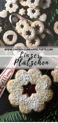Linzer Plätzchen oder Spitzbuben Linzer cookies are the absolute classic on the pastry plate during the advent season and should Canned Blueberries, Wild Blueberries, Christmas Cookies, Christmas Gifts, Xmas, Biscuits, Scones Ingredients, Linzer Cookies, Advent Season
