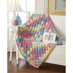 My favorite source for arts and crafts: Rainbow Entrelac Baby Blanket