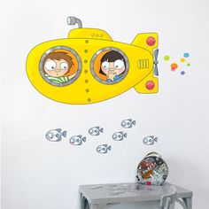 Harriet Bee Cecelia Submarine Wall Sticker/Decal Art Wall Kids, Wall Art Decor, Art For Kids, Painting Lessons, Art Lessons, Doodle Wall, Baby Mini Album, Wooden Wall Letters, Art Rules