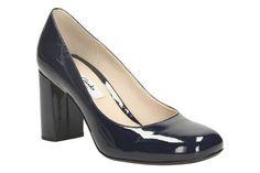 Clarks Gabriel Mist - Navy Patent - Womens Smart Shoes   Clarks
