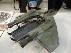 I'll kit bash a Valkyrie to build a vehicle transport ship.