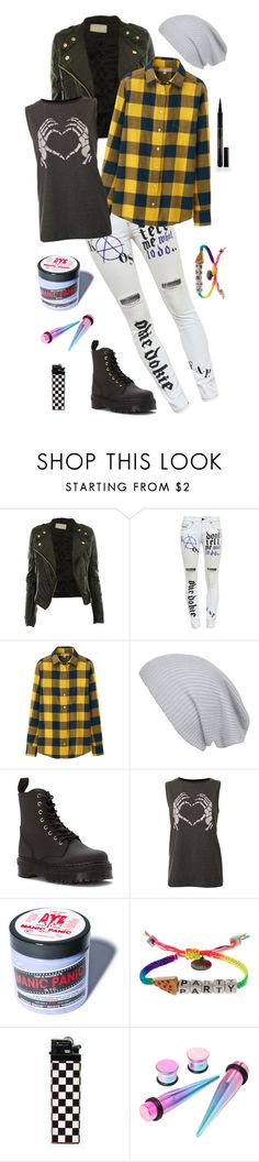 """I'm so high on misery, can't you see"" by just-words-on-another-page ❤ liked on Polyvore featuring Filles à papa, Uniqlo, Agent Ninetynine, Dr. Martens, Manic Panic NYC, Venessa Arizaga and Elizabeth Arden"