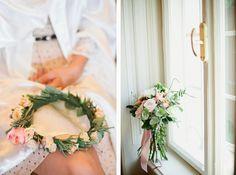 My flower halo My Flower, Flowers, Floral Hair, Hair Designs, Halo, Our Wedding, Floral Wreath, Wreaths, Decor
