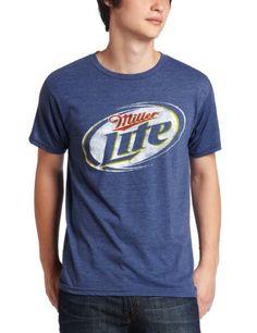 Mad Engine Men's Miller Lite Circle Logo T-Shirt:Amazon:Clothing