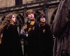 "Still of Rupert Grint, Daniel Radcliffe and Emma Watson in ""Harry Potter and the Chamber of Secrets"", 2002"