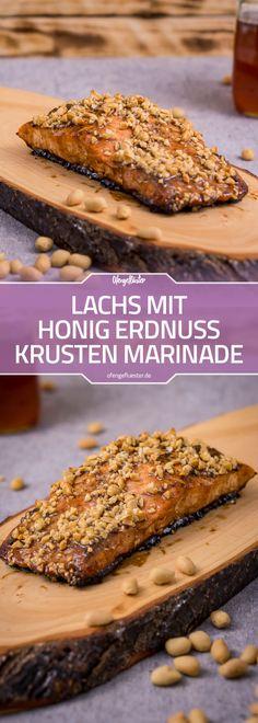 Lachs mit Honig Erdnuss Krusten Marinade Rezept