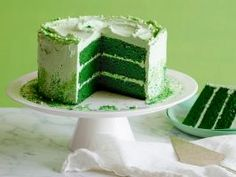St. Patrick's Day Green Velvet Layer Cake : Skip cream cheese frosting in favor of old-fashioned boiled frosting for this layered cake.