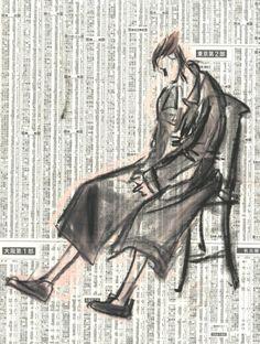 Sketch by Yohji Yamamoto