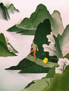 Natural, peaceful illustrations from Gracia Lam