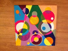 Multiple Color Geometric Circles Abstract by OrchideePourpre, $40.00
