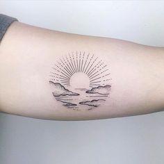 53 Cute Sun Tattoos Ideas For Men And Women, , Tattoos Piercings, Mini Tattoos, Sexy Tattoos, Body Art Tattoos, Small Tattoos, Circle Tattoos, Tattoos Skull, Tatoos, Dainty Tattoos For Women, Sea Life Tattoos