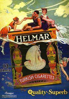 Turkish Cigarettes (Egyptian revival advert