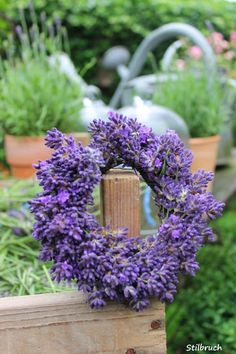 Lavender wreath. Yummy smell. Mehr