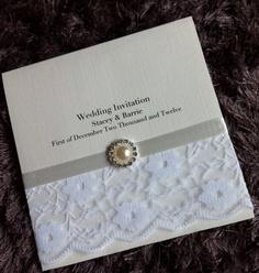1 Sample Handmade Luxury Lace Wedding Invitations - Personalised | eBay