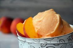 5-Minute Creamy Peach Frozen Yogurt