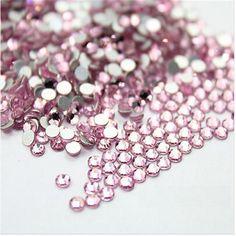 1440P SS3 1.7-1.8mm Light Pink Glitter Crystal For Nail Art Rhinestones 3D Shoe Bag Decoration Rhinestone DIY Bead Nail Salon #Affiliate