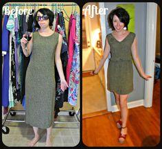 Adding an elastic waist to a dress - via Refashionista