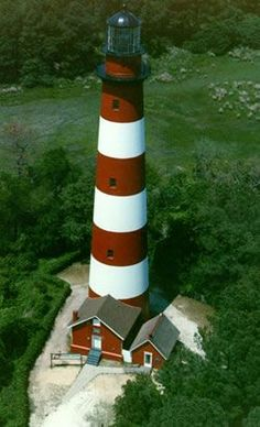 Built in 1867, the Assateague Lighthouse is located in the Chincoteague National Wildlife Refuge in Virginia.