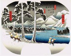 Japanese Ukiyo-e Woodblock print Utagawa Hiroshige View...