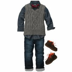 Christmas outfit for b. Cable-Knit Caroler