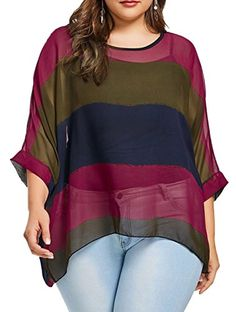 Color Lump Plus Size Batwing Top-Fashion Clothing Site with greatest number of Latest casual style Dresses as well as other categories such as men, kids, swimwear at a affordable price. Plus Size Batwing Tops, Plus Size Blouses, Plus Size Tops, Plus Size Dresses, Plus Size Outfits, Curvy Fashion, Plus Size Fashion, Men Fashion, Petite Fashion
