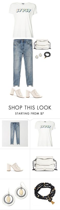 """""""gypsy"""" by musicfriend1 ❤ liked on Polyvore featuring Abercrombie & Fitch, Mother, Joie, rag & bone, Liz Claiborne, Fornash, lovethis, gypsy and slogantshirts"""