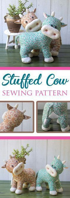 100 Brilliant Projects to Upcycle Leftover Fabric Scraps - Free Sewing Patterns with Bunnies!These sewing projects are actually useful and can help to organize your house. My husband bought me a sewing machine Sewing Projects to Use Up Al Sewing Basics, Sewing Hacks, Sewing Tutorials, Sewing Ideas, Basic Sewing, Sewing Toys, Sewing Crafts, Cow Pattern, Free Pattern