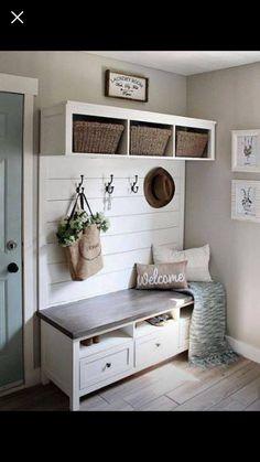 50 Stunning Farmhouse Mudroom Decor Ideas and Remodel - . 50 Stunning Farmhouse Mudroom Decor Ideas and Remodel – Source by Mudroom Laundry Room, Mud Room Lockers, Entry Way Lockers, Ikea Laundry, Laundry Room Colors, Kitchen Colors, Entry Way Design, White Trim, Furniture Inspiration