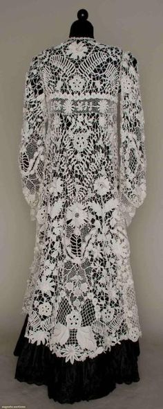 Irish Crochet Edwardian Coat, 1905. by snoopymeey